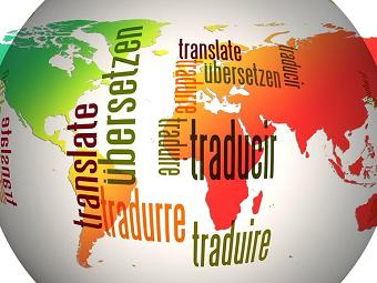 illustration traduction pays et texte traduire